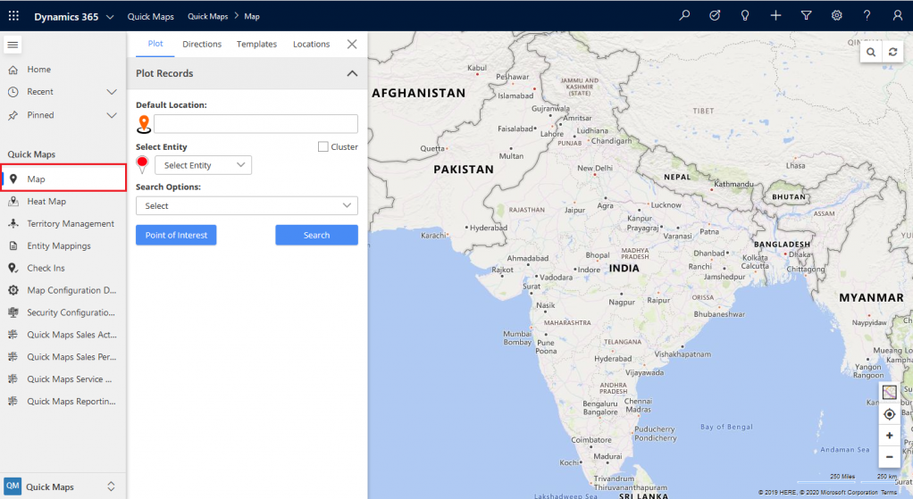 redirect map page