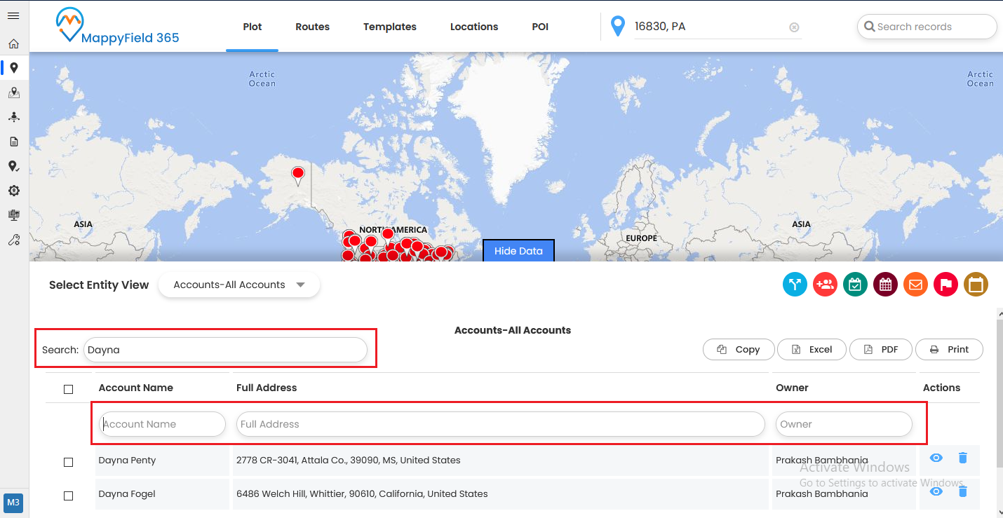 Dynamics 365 Quick Find View