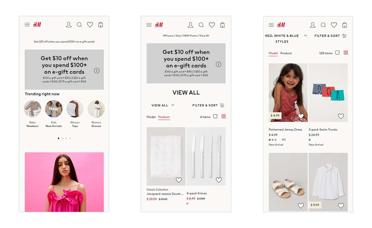H&M fashion app