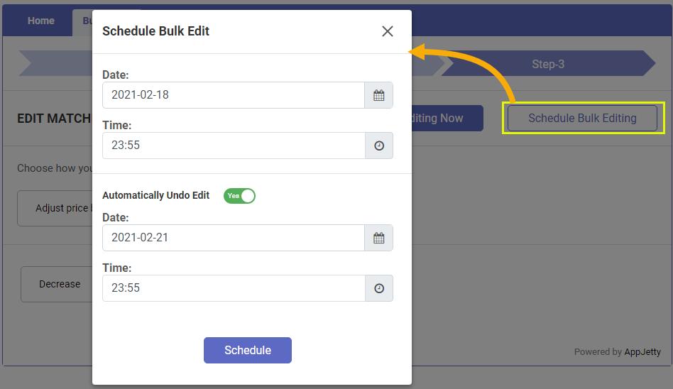 Schedule Bulk Editing