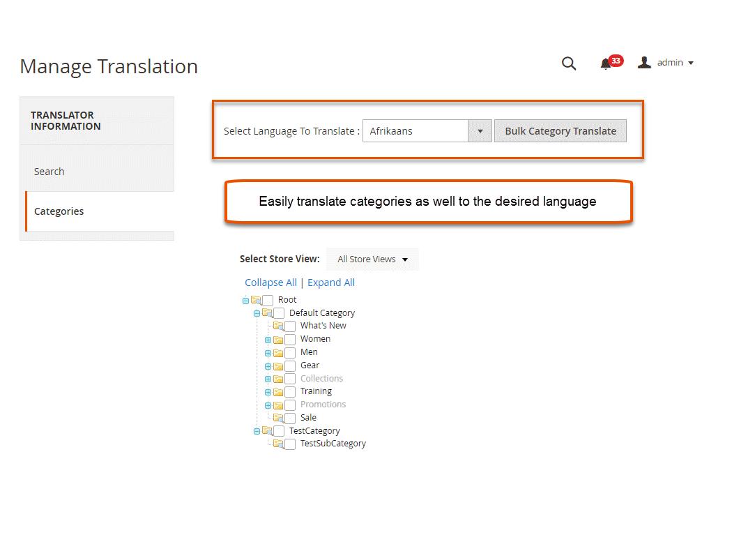 Bulk Category Translation