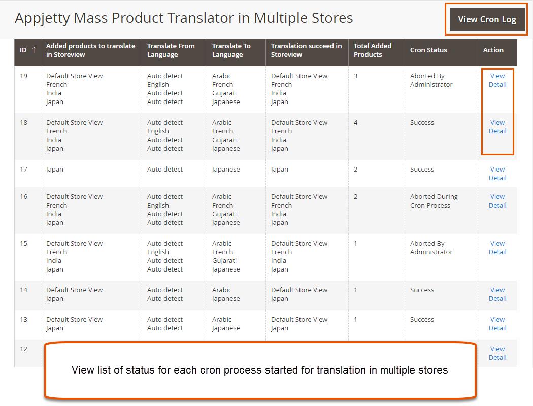 Translate Multi Stores