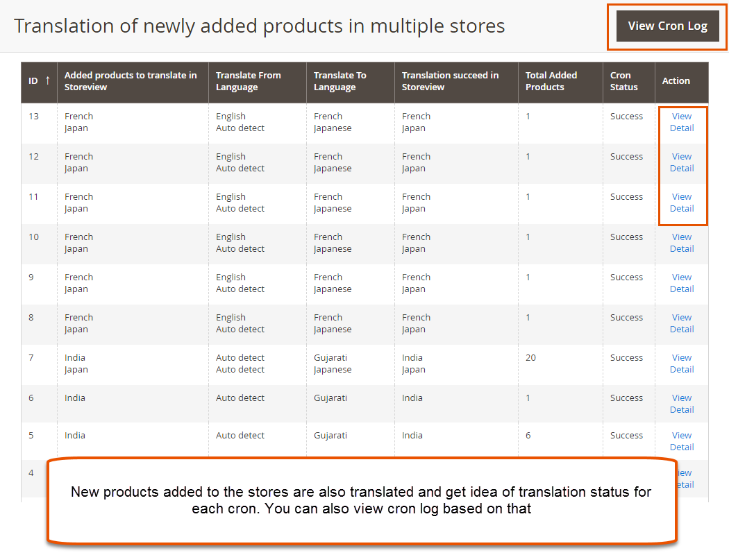 New Products Translation