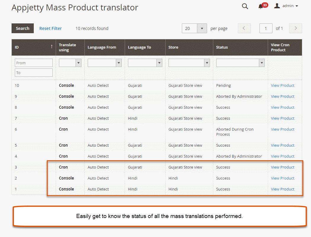 Mass Product Translation