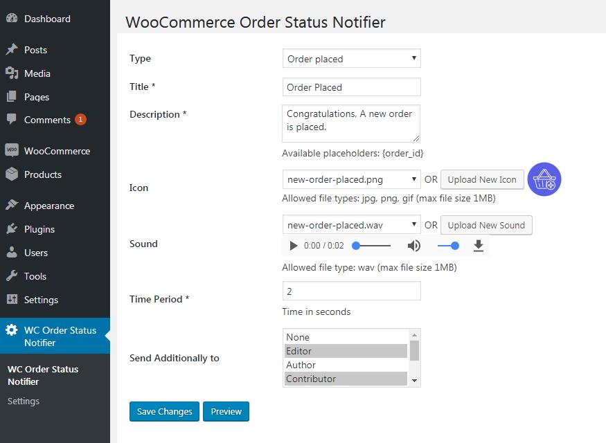 Edit Order Status Details
