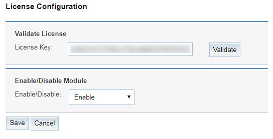 Field Level Access Control License Configuration