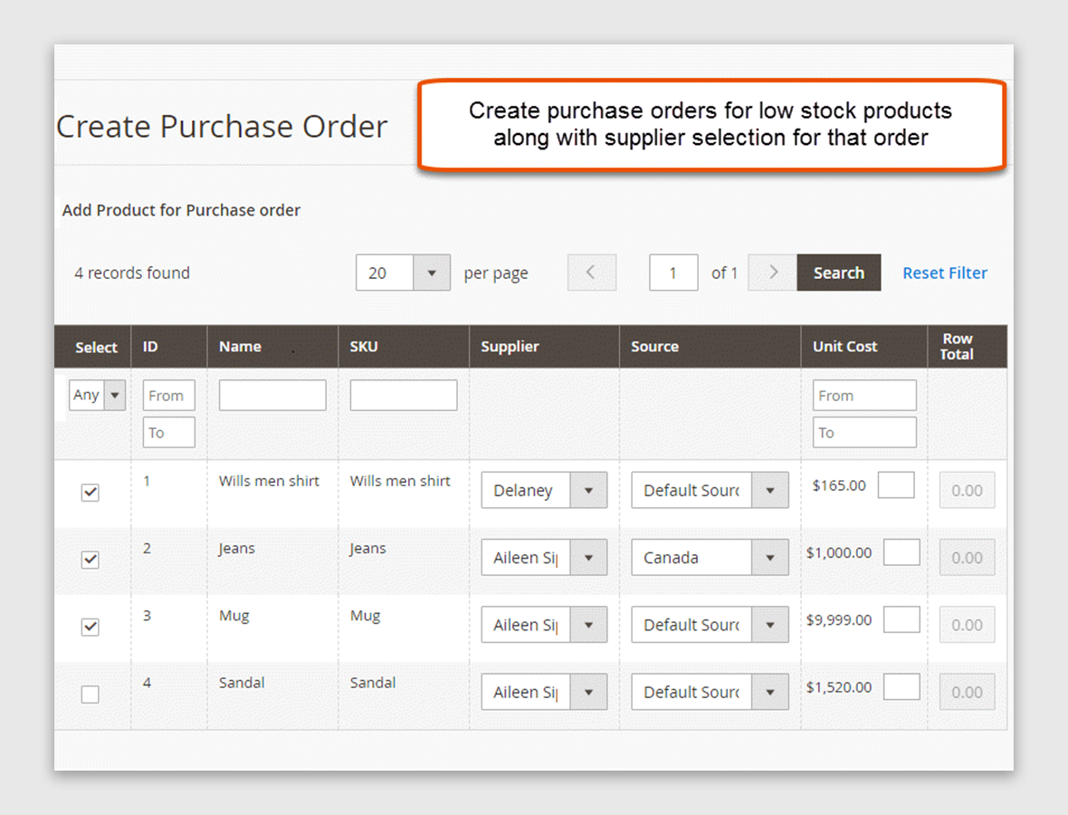 Generate Purchase Orders