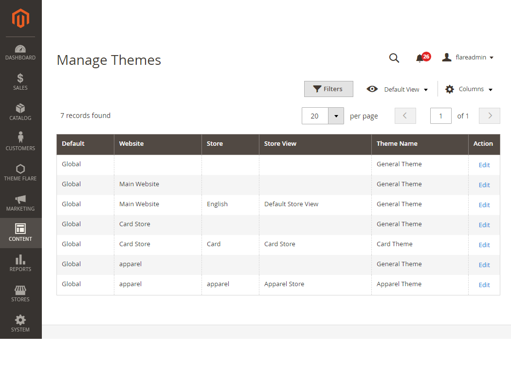 Manage Themes