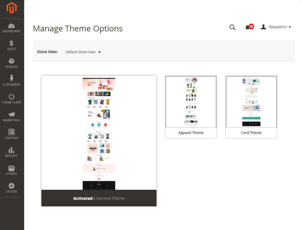 Manage Theme Templates