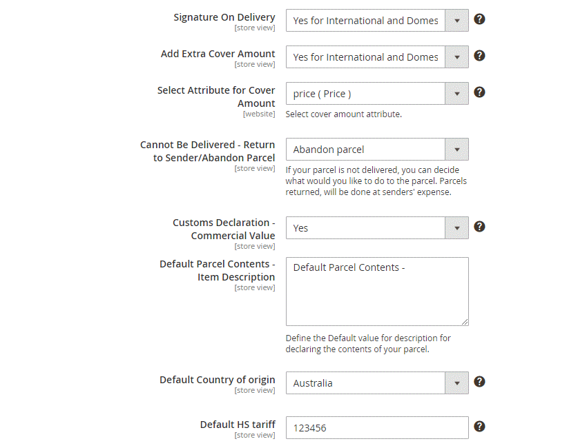 Order Shipping Configuration3