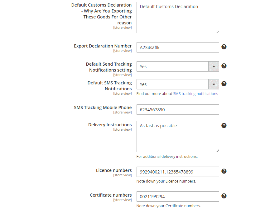 Order Shipping Configuration4