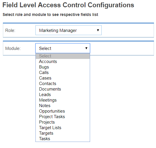 Set Access Rights for Desired Modules