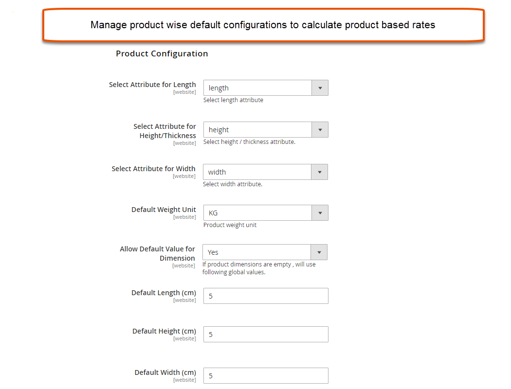 Shipping Rates Configuration