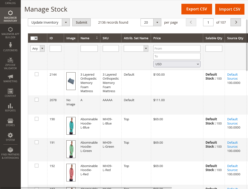 Product Stock Management
