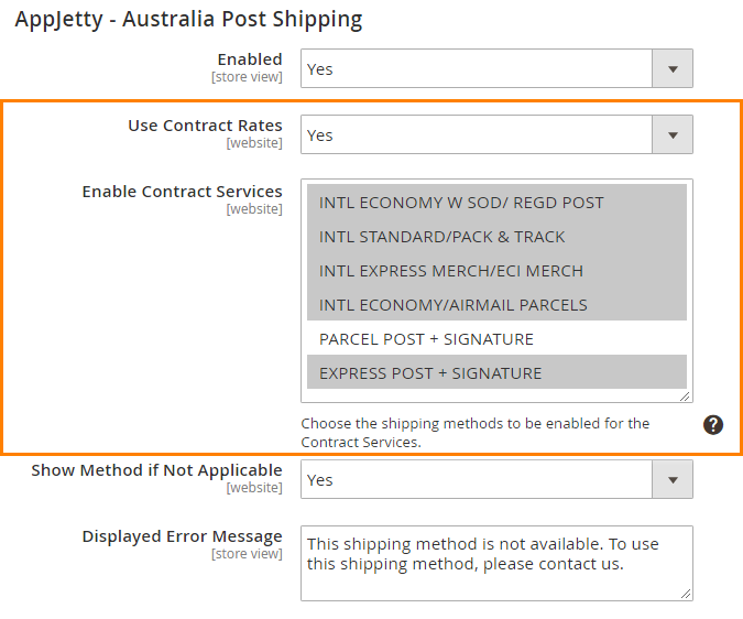 Live Contract Shipping Rates