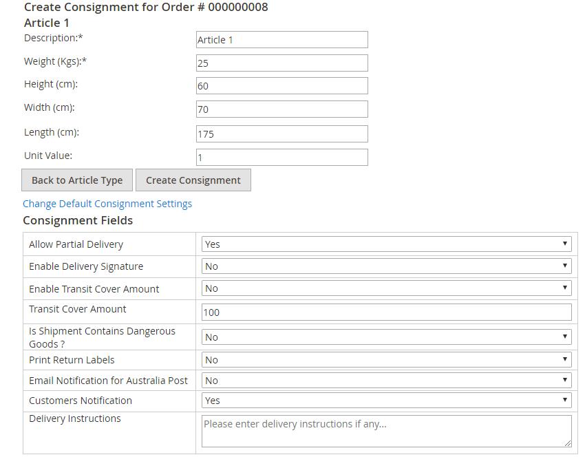 Create Custom Articles