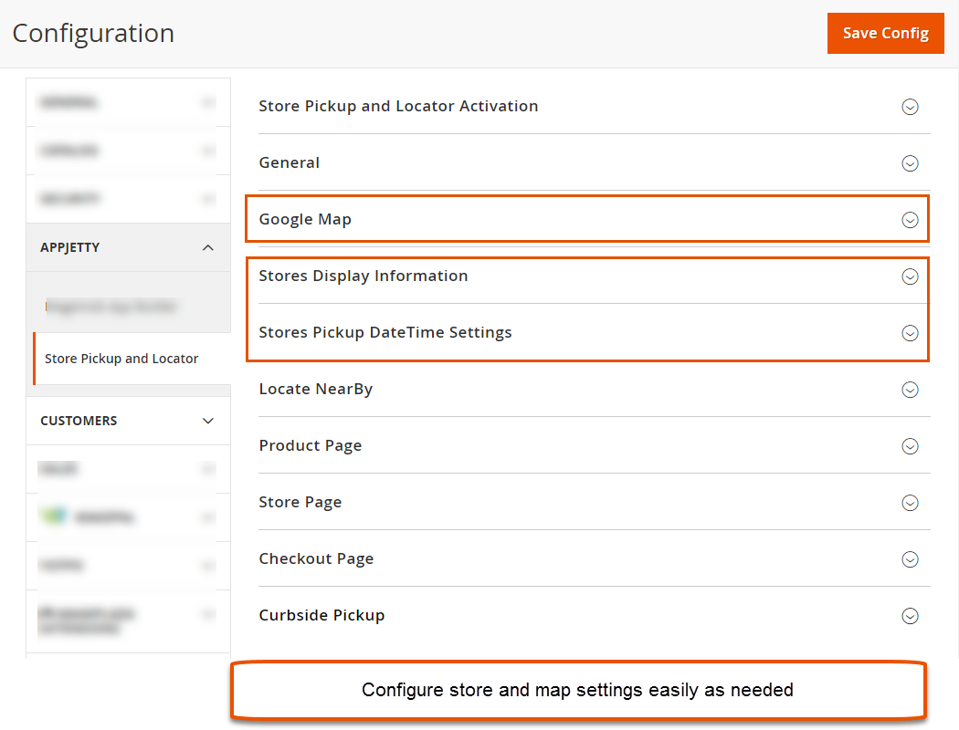 Configure Store and Map Settings