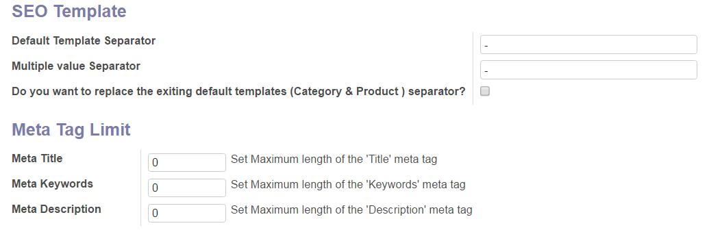 Restrict Meta Tag Limit