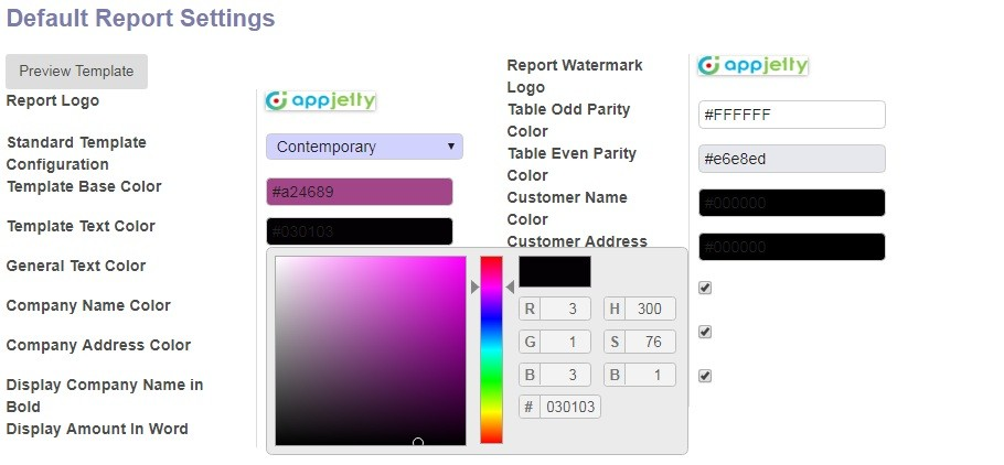 Facility of Color Picker for Managing Text Colors
