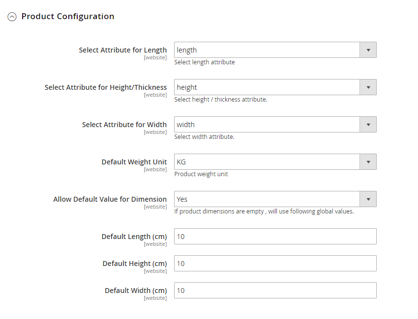 Shipping Rates Configurations