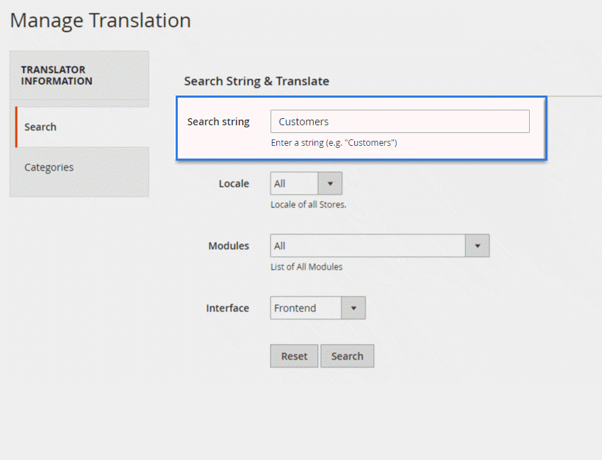 Quick Search & Translate