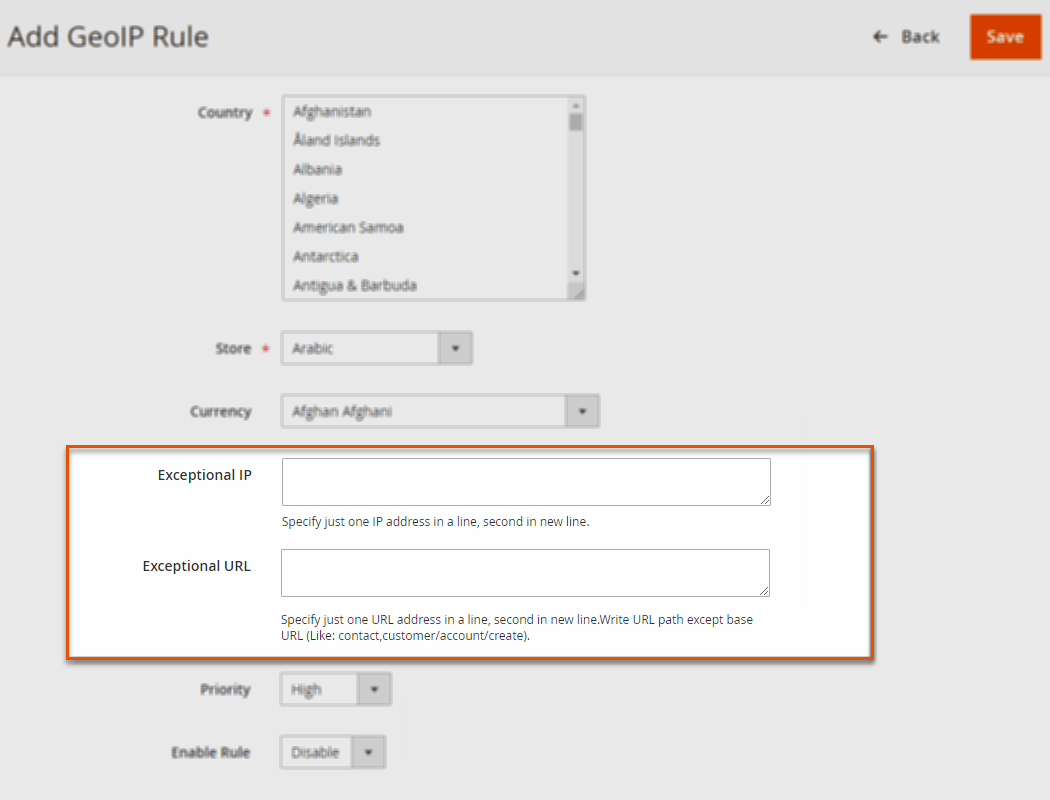 Restrict Redirects by IPs or URLs