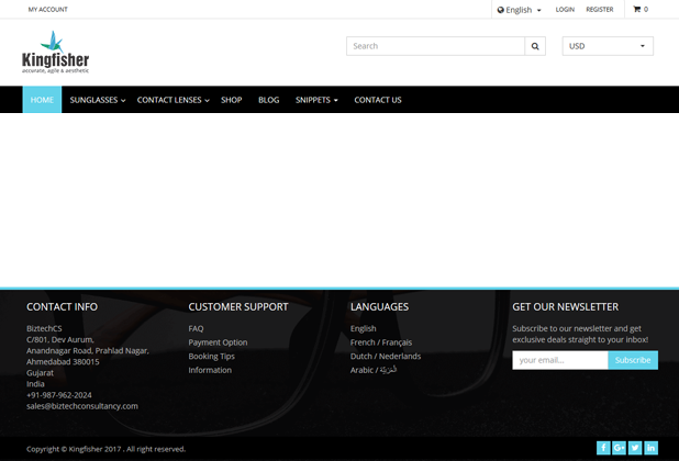 Header and Footer Customization