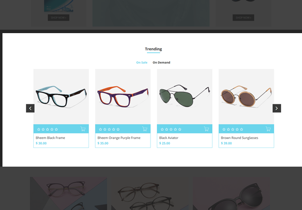 Multi Products Tab Slider Snippet