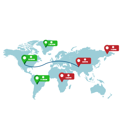 Map View of Check-Ins and Routes