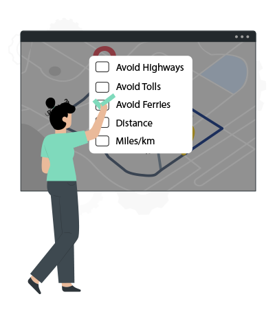 Route Optimization by Multiple Filters