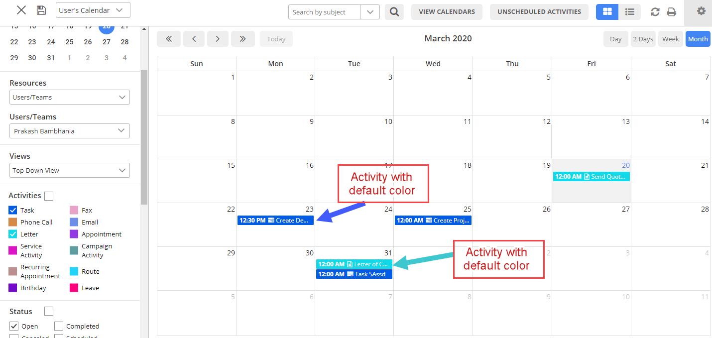 create new activity task